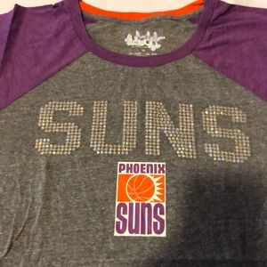 Heather Grey Touch by Alyssa Milano NBA Phoenix Suns Conference Tee Plus 4X